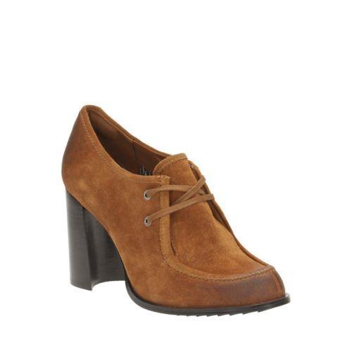 Clarks Cass día tan Suede Suede Suede Cass día para mujer Tacón Alto Court zapatos Reino Unido 6 6.5  despacho de tienda