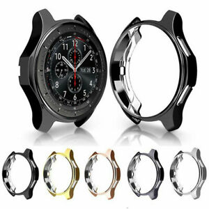 CA-For-Samsung-Galaxy-Watch-42-46mm-S3-S2-TPU-Bumper-Case-Cover-Screen-Protector