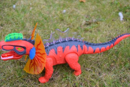 Walking Dorsal Spine Dragon Dinosaur Moving Walks B//0 Lights /& Lizard Style