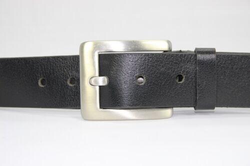 4cm Breit ca 4mm Dick Echt LEDER Gürtel Herren Damen Büffelleder Schwarz