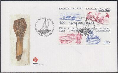Sanft Grönland : Ende Der Besiedlung In Vielen Stilen 361/64 Fdc Arktische Wikinger iii Mi