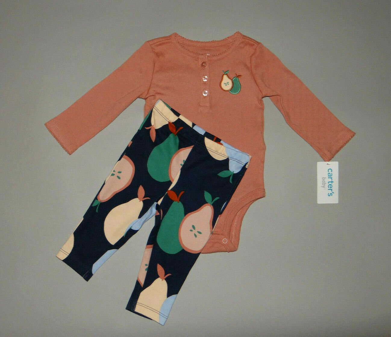NWT, Baby girl clothes, 12 months, Carter's 2 piece set/  ~SEE DETAILS ON SIZE~