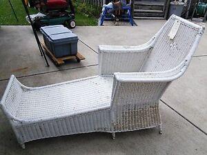 Antique wicker chaise lounge circa 1880 ebay for Antique wicker chaise lounge