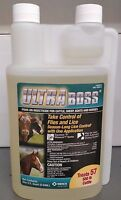 Ultra Boss Pour On Quart Insecticide For Cattle Sheep Goats Horses Merck