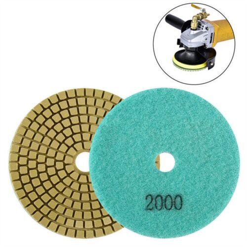 Diamond Polishing Pads 4 inch wet//dry Granite Marble Concrete Stone 2000grit GW