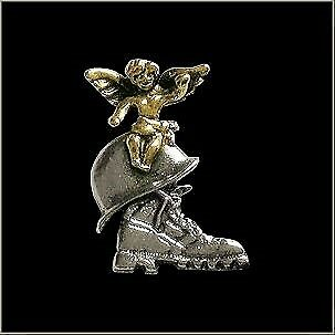 Military Guardian Angel Pin with Boot /& Helmet for Hat Vest Lapel