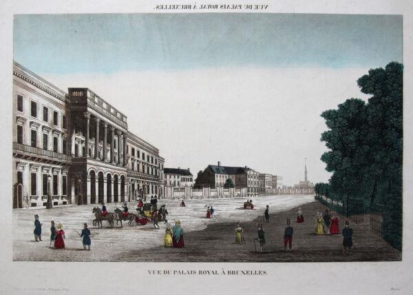 ColeccióN Aquí Orig. Altkol. Hoja Proscenio Bruselas Real Palacio Bélgica Bruselas 1830