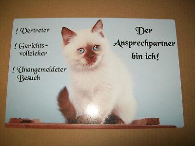 Heilige Birma Katze Schild Bild Blechtafel 33 Ebay