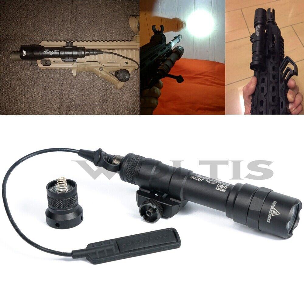Tactical M600B Scout LightTorch Flashlight 400 Lumen LED Light w  Tail Switch BK