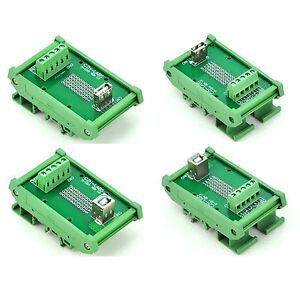 DIN Rail Mount USB Jack Interface Module, Breakout Board.