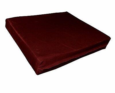 mo93t Burgundy Shimmer Velvet Style 3D Box Sofa Seat Cushion Cover Custom Size