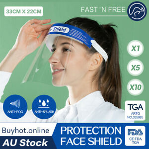 SALE Safety Full Face Cover Reusable Protection Clear Face Covering Anti-Splash