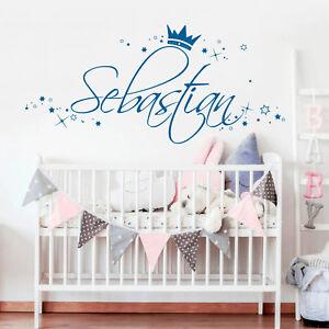 Wandtattoo Kinderzimmer Name Junge Sterne Wunschname Wandaufkleber Kleiner Prinz Ebay