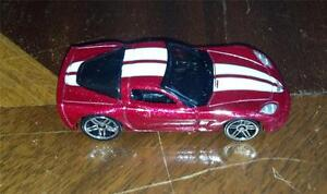 New-Loose-2007-Hot-Wheels-Mystery-Car-Chevy-Corvette-C6-Dark-Red-Variation