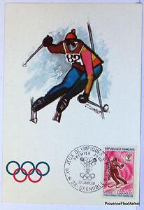 Cpa Maximo Tarjeta Postal Postal Grenoble Juegos Olimpicos De