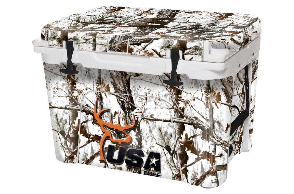 USATuff Custom Cooler Decal Wrap fits fits Wrap YETI Tundra 65qt FULL Snow Camo DH d96d7c