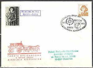 Poland-1973-Stagecoach-Post-on-the-trail-of-Copernicus-Wabrzezno-Brodnica
