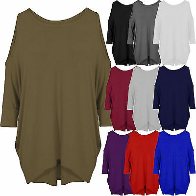 Women/'s baggy long batwing top oversized casual wear long top 8-26 PLUS SIZE