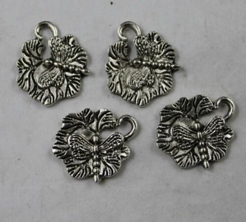 30//60pcs Retro style lovely dragonfly alloy charms pendants 17x16mm