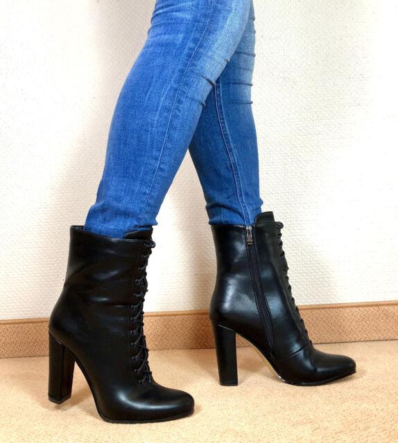 Gr.43 TOP ! Exklusiv Sexy Damen Schuhe Stiletto Stiefeletten Männer Boots E6