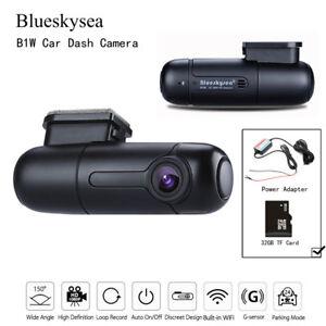 Blueskysea-B1W-Car-Dash-Camera-Vehicle-Recorder-amp-32GB-TF-Card-amp-Power-Adapter