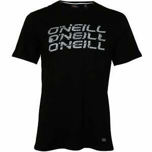 O'Neill Triple Logo Rundhals Herren T-Shirt, Black Out