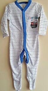 fa4ff4dbe Baby Boys Sleepsuit   Babygrow   All in one - Ex Next - Ahoy Matey ...