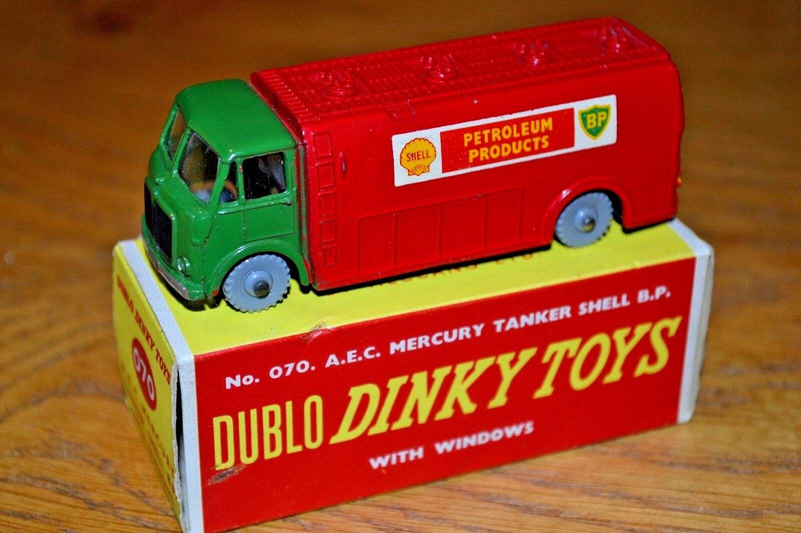Dublo Dinky Spielzeugs 070 AEC Mercury BP Shell Tanker Near Mint; Original Box