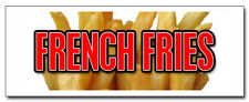 24 French Fries Decal Sticker Fry Cart Stand Trailer Supplies Equipment