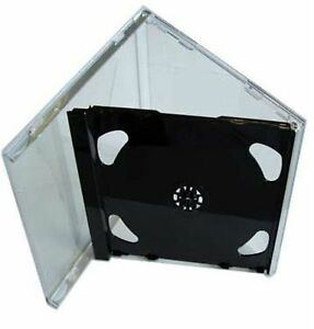10 Double CD Jewel Case 10.4mm with Black FOLD-OUT Tray Empty Replacement HQ AAA