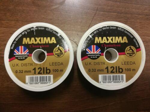 12lb 2 x Maxima chameleon fishing line 100m