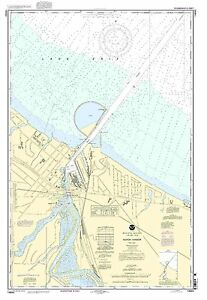 NOAA Chart Huron Harbor 24th Edition 14843