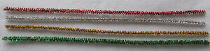 Tinsel-Stems-Sparkly-Pipe-Cleaners-x10-Choice-gold-silver-red-green-Christmas