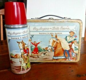VINTAGE ROY ROGERS AND DALE EVANS LUNCHBOX & THERMOS