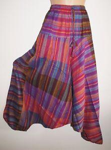 New Hippy Harem Trousers 18 20 22 Ethnic Cotton Yoga Pilates Fair Trade Surf