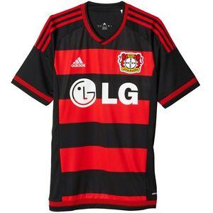 Details zu adidas Bayer Leverkusen Trikot Home Saison 20152016 schwarzrotweiß [S88632]