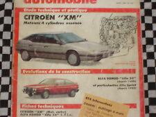revue technique CITROEN XM 4 CYLINDRES ESSENCE / 1990 / français