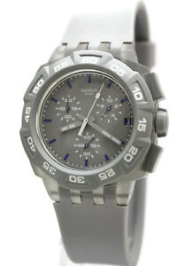 8f4daa4865b New Swatch Gray Hero Chronograph Date Men Watch 44mm SUIM402  120