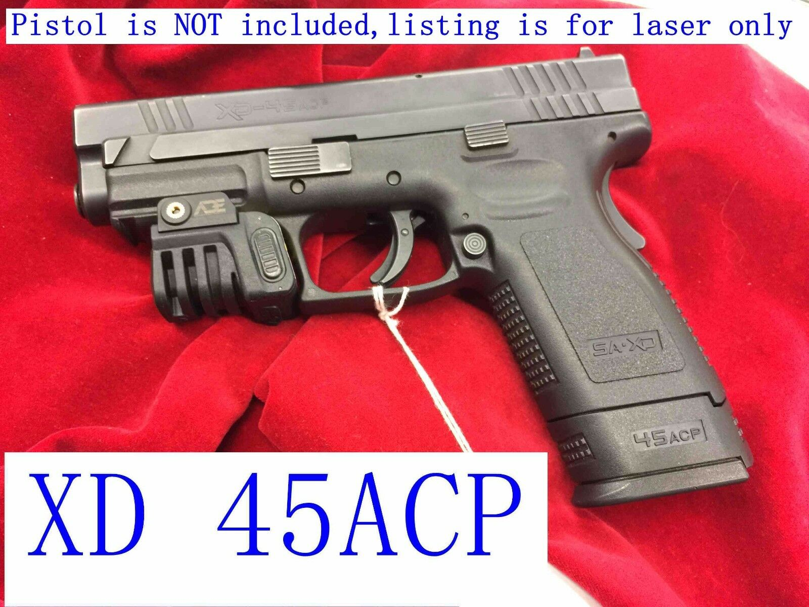 Rechargeable MINI Compact GREEN Laser 4 pistol Ruger SR9