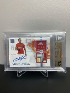 Anthony Martial Impeccable Soccer 1 Of 1 Patch Auto BGS 9.5