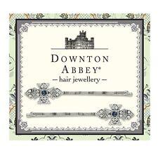 Downton Abbey Silver-Tone Blue Crystal Bobby Pin Set 17569