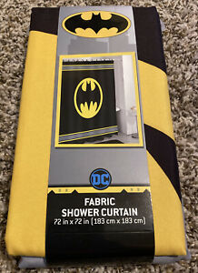 "Batman Logo Warner Brothers DC Comics Fabric Shower Curtain 72/"" FREE SHIPPING!!"