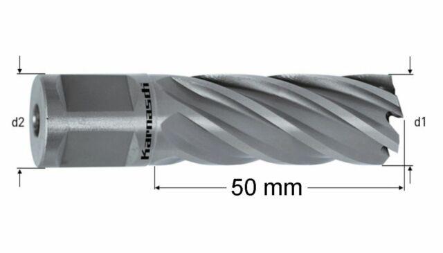 HSS Kernbohrer Nitto Ø 12-60mm Länge bis 110mm Edelstahl Metall Stahl Blue Line