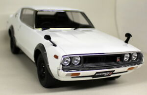 Kyosho-1-12-Scale-Nissan-Skyline-2000-GT-R-KPGC110-White-Sealed-Resin-Model-Car