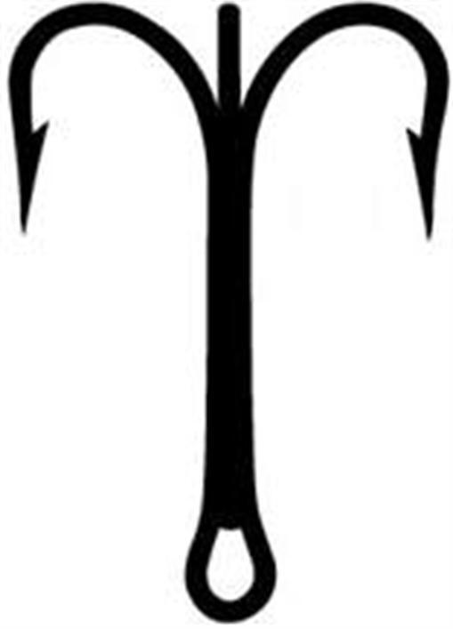 Mustad 3551-BR-9 0-25 Bronze Treble Hooks Size 9 0 25CT 20416
