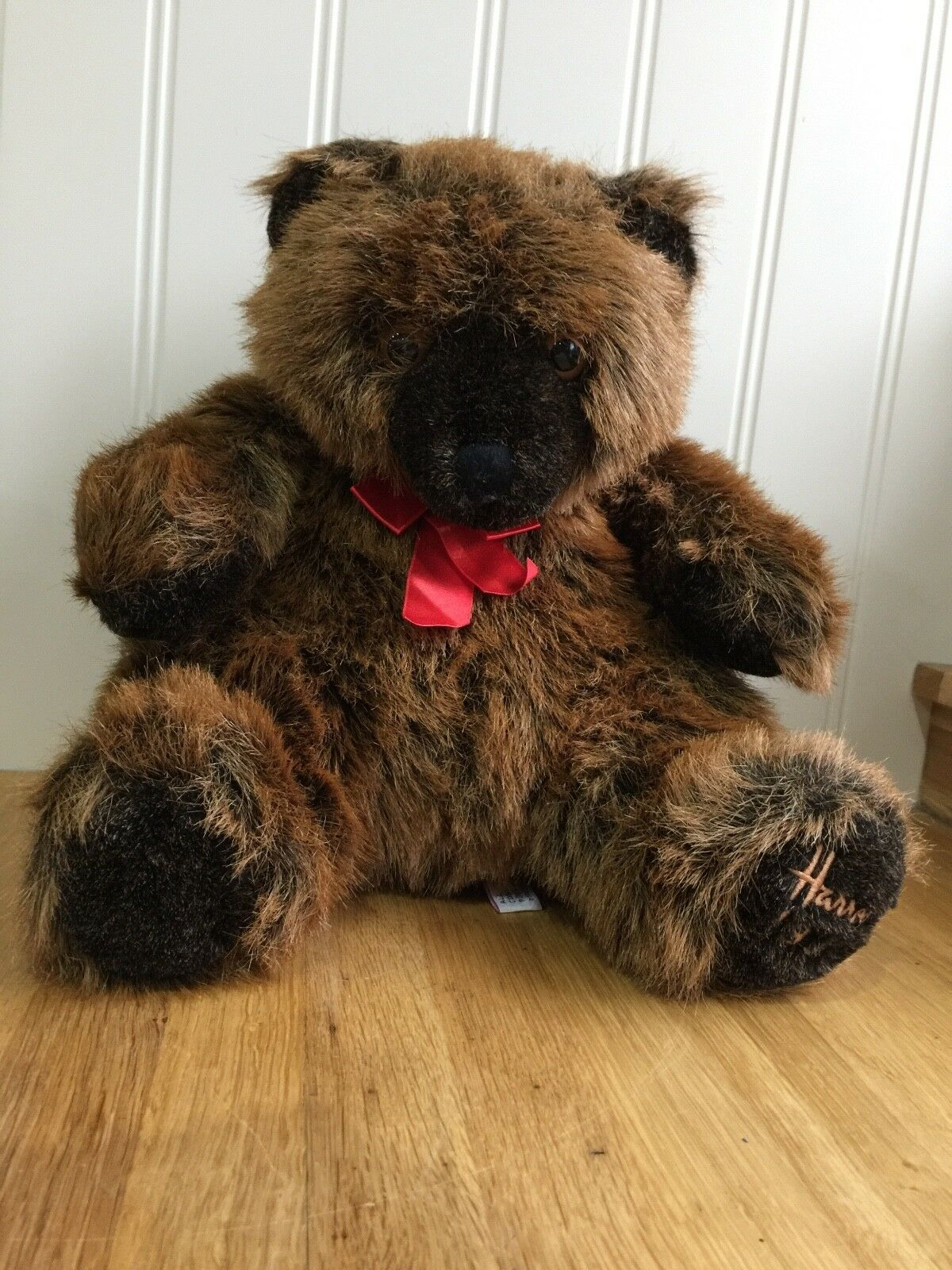 Harrods 1992 braun Grizzly Teddy Bear FREE UK Delivery