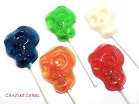 12 Skull Head Lollipops Halloween Party Favors