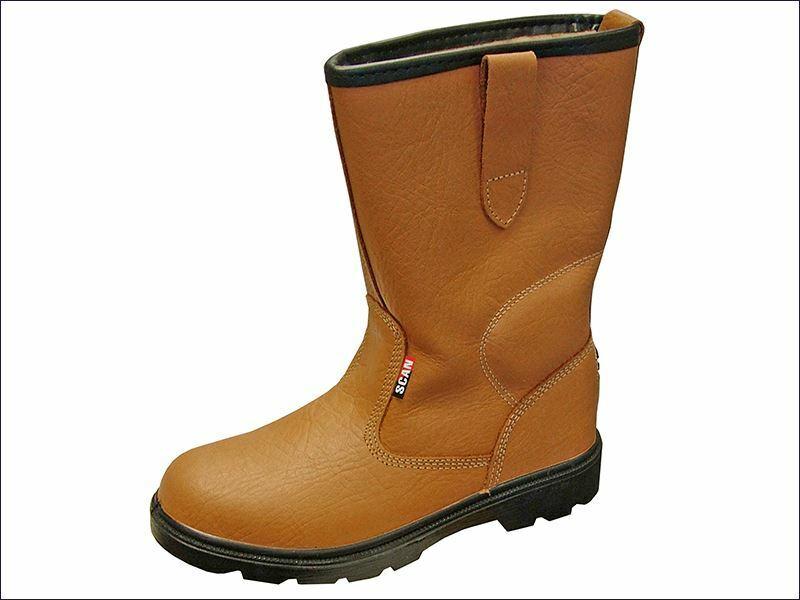 Texas Lined Tan Rigger Boots UK 11 Euro 46 SCAFWTEXAS11