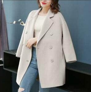 Bty15-Womens-Wool-Blend-Trench-Coat-Long-Casual-Double-Breasted-Jackets-Korean-F