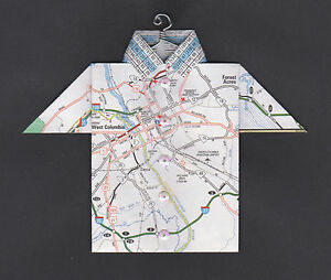 Origami-Map-Shirt-West-Columbia-Congaree-River-Forest-Acres-South-Carolina